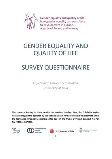 Blueprint gender equality and quality of life of the blueprint questionnaire malvernweather Gallery